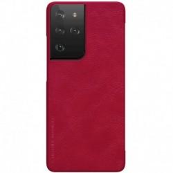 Futrola za Samsung Galaxy S21 Ultra 5G preklop bez magneta bez prozora Nillkin Qin - crvena